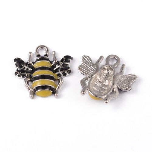 Bumble Bee Enamel charms (2)